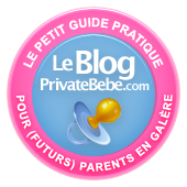 Le badge du blog Private bébé !