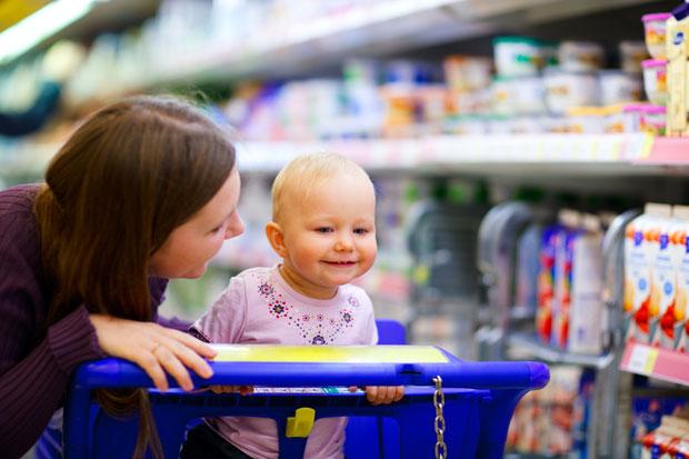 Courses avec bébé - Faire les courses avec son bébé
