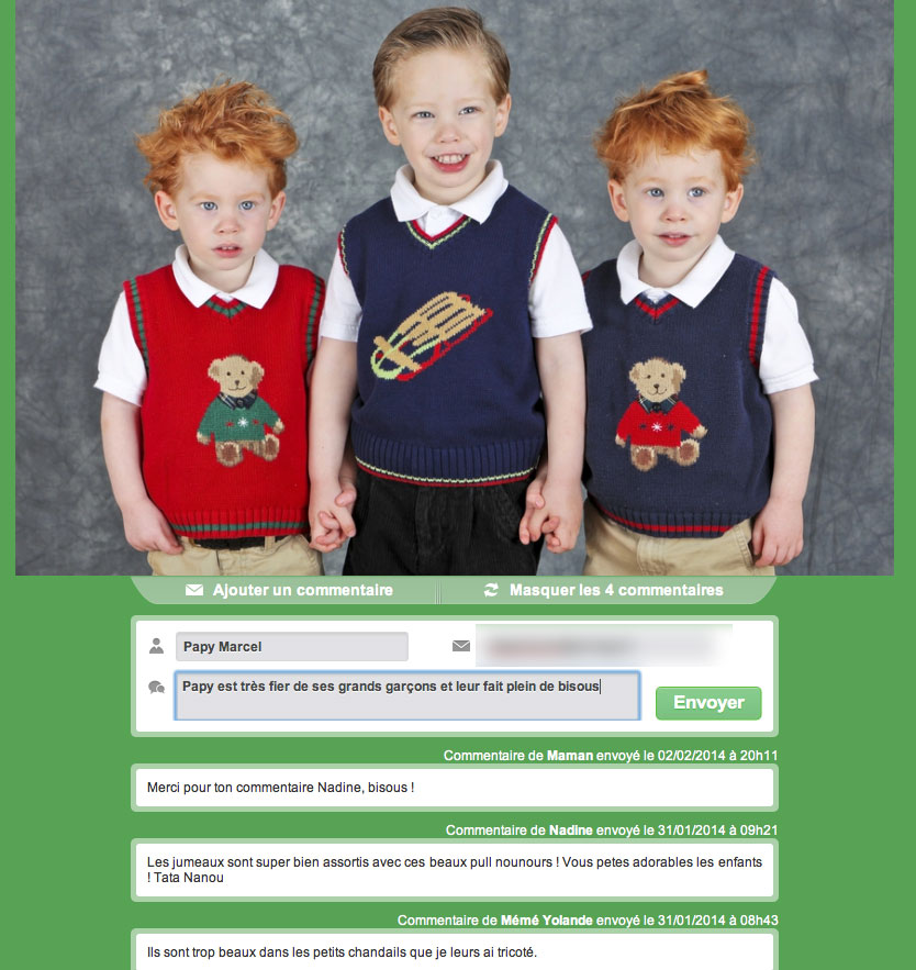 Photos de bébé et de famille : partagez vos photos en privé !