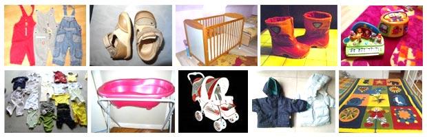 Habillement, accessoires, mobilier ou matériel de cuisine pour bébé et enfants sont proposés