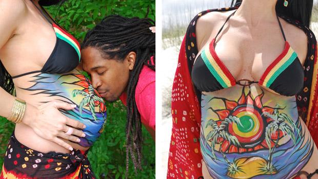 le belly painting pour c l brer votre grossesse en couleurs b b maman. Black Bedroom Furniture Sets. Home Design Ideas