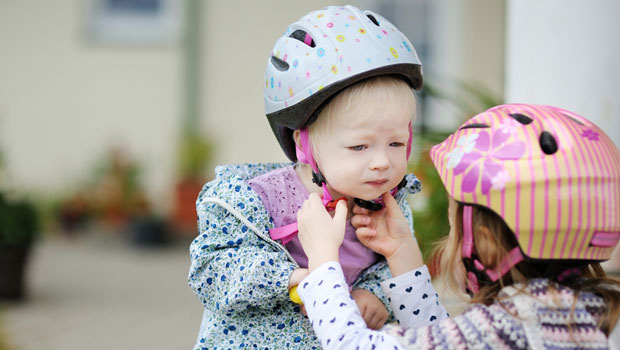 On trouve des casques de vélo pour enfants et bébé dès 9 mois...