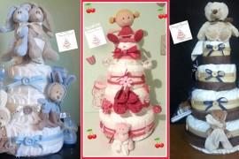 Les Diaper Cakes (gâteaux de couches) de Françoise Vermorel
