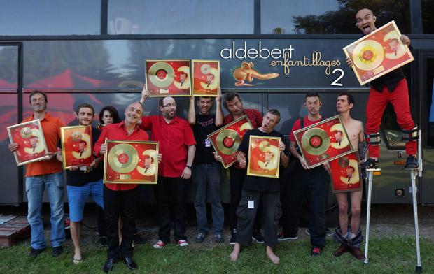 Aldebert et les disques d'or
