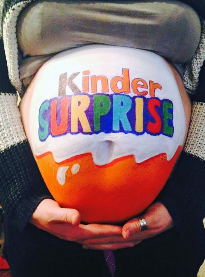 "Gut bekannt Belly painting ""Kinder surprise"" JM29"