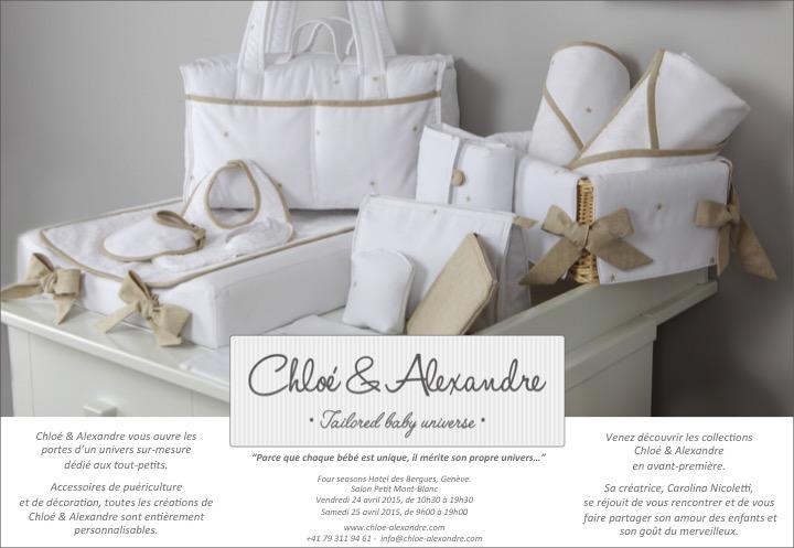 Venez découvrir les collections Chloé & Alexandre en avant première.