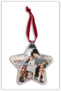 Idées cadeau de Noël : l'étoile photo incrustée à accrocher sur le sapin