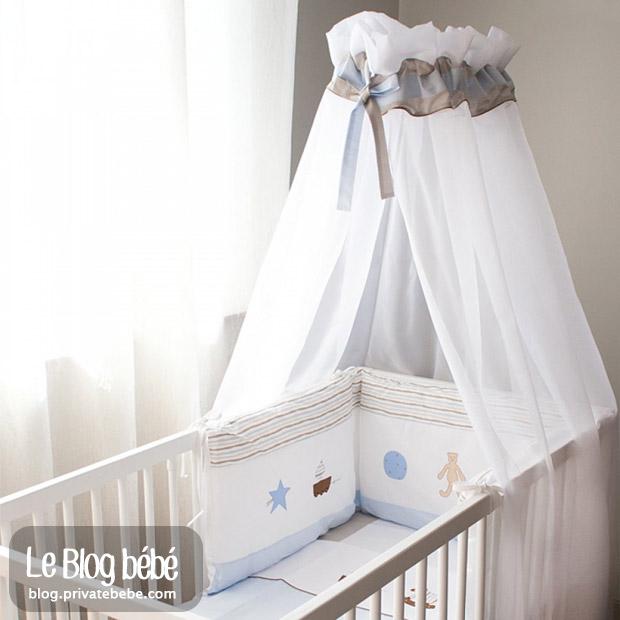 Ciels de lit bébé : le ciel de lit le préserve des agressions possibles d'insectes qui sont très attirés par la jeune peau de bébé