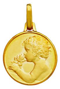 Bijou de baptême : exemple de jolie médaille de baptême pour garçon et fille