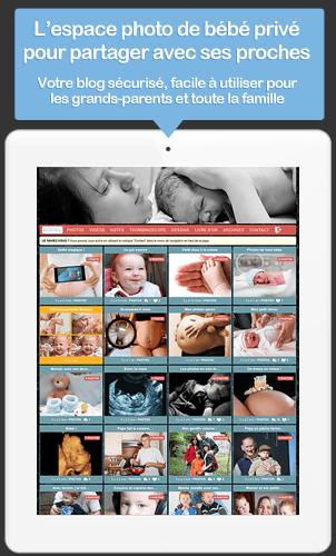 Créez l'espace photo privé de votre bébé pour partager photos et vidéos en ligne avec vos proches