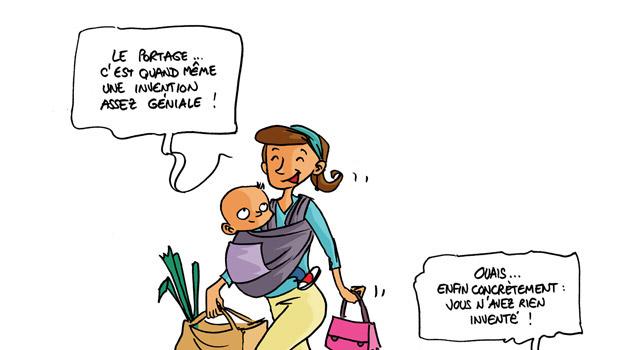L'écharpe de portage expliquée aux futures mamans