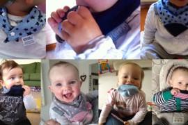 Le neckerchew : Le 1er bavoir avec anneau de dentition intégré