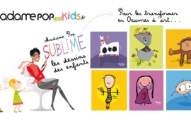 Madame Pop and Kids sublime les dessins de vos enfants