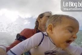 VIDEO : Papa fait du surf avec son bébé de neuf mois